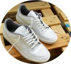 кроссовки динамо порлностью белые